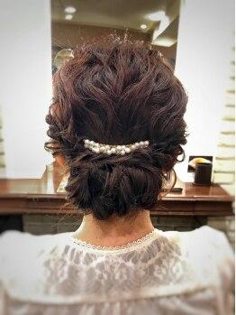 アクト(ACT)の写真/【新規/結婚式&二次会ヘアセット】その日の服や髪の量に合わせてあなたぴったりの髪型をご提案♪