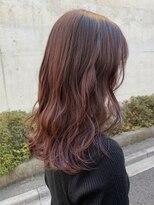 *ブリーチなし大人可愛いピンクベージュピンクブラウンモテ髪