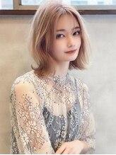 アグ ヘアー ロッソ 福島矢野目店(Agu hair rosso)《Agu hair》透明感カラーの韓国風くびれロブ