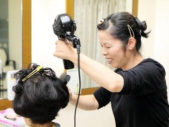 ヘアークラフト サン 住吉店の写真/「カラー、パーマを繰り返して髪がパサつく…」そんなお悩みの方は弱酸性美容で解決!