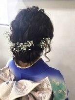 ヘアメイク シュシュ(Hair make chou chou)カスミ草ギブソンタック着物アレンジ【chou-chou 北林夏実】