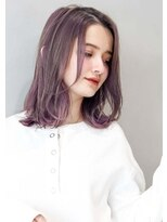 ヘアサロンガリカアオヤマ(hair salon Gallica aoyama) 『 ブルーベリーグレージュ × 透け感 』 切りっぱなしボブ☆
