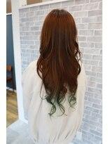 ヘアーメイク プリュム(Hair make Plume)グラデーション×グリーン