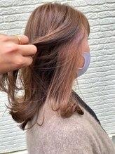 ヘアー リビング リコ(hair living Liko)【Liko 池袋】インナーペールピンク×ブラウン【池袋】364