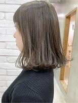 ロッジ 原宿店(RODGE)【nana】オリーブグレージュ ブリーチなしダブルカラー 髪質改善