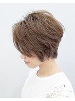 エイム ヘアメイク 横川店(eim HAIR MAKE)透明感たっぷりベージュ×ハンサムショート