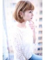 大人 かわいい ハイトーン 小顔 ボブ サイド【Cloud zero】