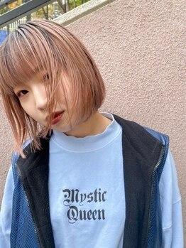 ヘアー アレス(hair ales)の写真/人気の外国人風カラーで抜けてきた色も楽しめる☆ケアブリーチでハイトーンカラーもダメージレスに◎
