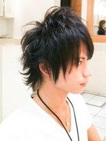 ミンクス ハラジュク(MINX harajuku)【MINX藤巻巡日人】外ハネレイヤー×ウルフ×ツーブロック黒髪