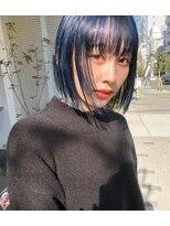 ラパンセヴェール(LA PENSEE VERT)【LA PENSEE lino】ブルーカラー×ミニボブ
