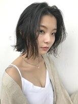 フェス カットアンドカラーズ(FESS cut&colors)『FESS 鶴丸』【ナチュラルボブ×大人かわいい】無造作ヘア