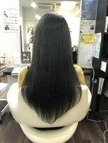 ヴィオレッタ ヘアアンドスペース(VIOLETTA hair&space)グレージュ×ロング×暗髪