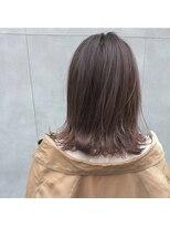 アリーズヘアー 青山(allys hair)大人かわいい ◆ハイライト×ラベンダーベージュ ボブ