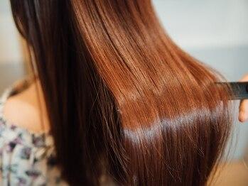 グラスヘア(Grous hair)の写真/[パサつきを抑える潤い艶カラ-¥6804]ハリコシに必要なタンパク質/コラーゲンを配合!褪色を防ぎ毛先まで潤う