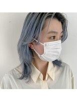 ヘアーアイストゥーレ(HAIR ICI TRE)レイヤーカット × アイスブルー