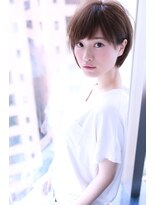 大人かわいいモーブカラー小顔ショートボブ【Cloud zero】