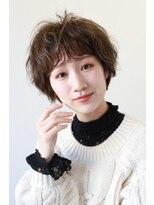 【soy-kufu】抜け感のある前髪ナチュラルショートパーマスタイル