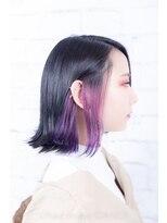 ヘアーメイク ダンス(hair make DANCE)edolカラーダークグレージュ 塩基系カラーバイオレット