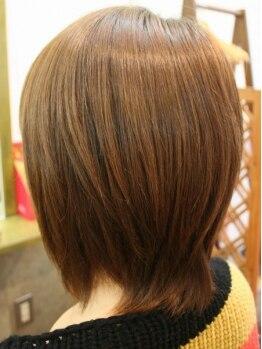 ヘアー マサ(hair MASA)の写真/【カット+フレンチカットグラン¥3150】髪を傷めず、カットのみでくせ毛・毛量・毛質改善★キメ髪に変身!