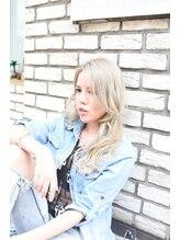 アンシー ヘア デザイン(an-cie hair design+)ラフゆれセミディ×ロングバング×シルキーベージュ