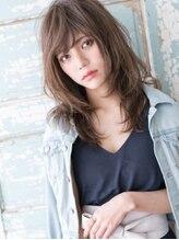 プレジール ヘアー デザイン(Plaisir Hair Design)はねバング×グレージュ☆ゆるくびれフェザーセミロング