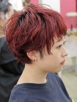 フィックス アップ(FIX-UP SHIBUYA)デザインカラー 丸みショート 無造作カール