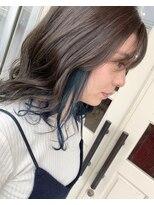 ヘアアンドメイクグラチア(HAIR and MAKE GRATIAE)インナーブルー♪