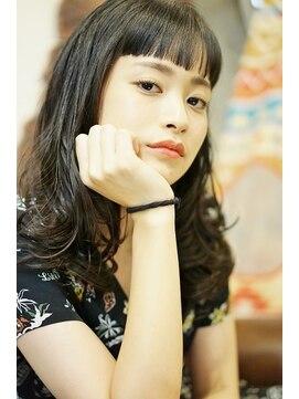 アジュール ヘアデザイン(Aju r hair design)【Aju-r】黒髪×ショートバング モードガーリー