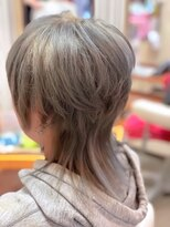 ヘアーメイク リボーン ムーヴ(hair make re:bbon move)ダブルカラー×グレーパール