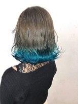 ソース ヘア アトリエ 京橋(Source hair atelier)【SOURCE】裾カラーエメラルド