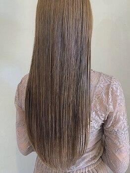 レセ 新松戸駅前店(Laissez)の写真/【新松戸駅徒歩3分】髪の広がり・まとまり辛い…くせ毛の悩みを解消!!お手入れ簡単ストレートヘアに♪