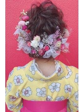 ヘアメイクサロンシャルメ(Hair Make Salon CHARMER)卒業式☆成人式☆ルーズなシニヨンスタイル♪