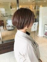 ヘアメイク シュシュ(Hair make chou chou)大人ショートアッシュブラウンネオウルフ30代40代