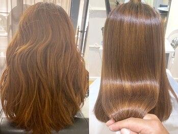 ケーツーダブリュー(k-two W)の写真/酸性ストレートで頑固なエイジング,ダメージ毛も見違える艶と柔らか美髪に!髪年齢で印象がガラリと変わる♪