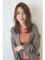 【Ramie 新谷千絢】前髪なしヴェールウェーブウルフセミディ