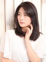パティオン(PATIONN)ニュアンスストレートの大人艶髪ワンカールミディアムスタイル☆