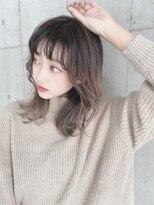 アール ヘアー デザイン(r hair design)【r hair design】無造作カールくびれセミディ