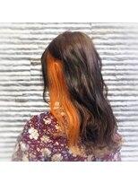 ビス ヘア アンド ビューティー 西新井店(Vis Hair&Beauty)オレンジインナーカラー