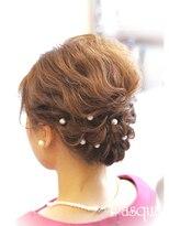 ヘアセットサロン パスクア(Hair Set Salon Pasqua)短めボブアップスタイル