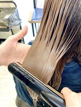 シュシュプライベートヘアサロン(Chou chou private hair salon)の写真/SNSで話題★【超音波アイロン】アイロンから出る超音波と遠赤外線でいつものトリートメントが劇的に変わる!