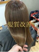 髪質改善×アッシュ