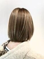 フレイムスヘアデザイン(FRAMES hair design)ナチュラルボブ×ミルクティーハイライト