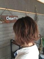 シュエット(Chouette)ピンクグレージュボブ