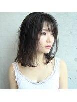 フェス カットアンドカラーズ(FESS cut&colors)『FESS 鶴丸』【明暗パールグレージュ×ナチュラルボブ】