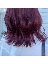 ケーオーエス(KOS beauty hair, nail & eyelash)ワインレッドカラー