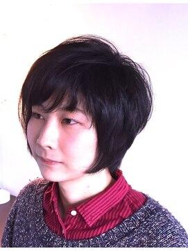 ヘアーカーブ(haircarve)haircarve2015!マニッシュ・ミニマムショートボブ