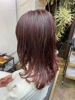 コレット ヘアー 大通(Colette hair)ワインレッドカラー