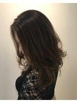 ヘアーリゾートラシックアールプラス(hair resort lachiq R+)《R+》シアーグレージュ☆セミロング