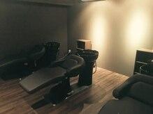 ルッソカナン(Lusso canaan)の雰囲気(完全個室のシャンプー台。アロマと癒しの音楽で癒されて下さい。)