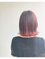 ヘアメイク オブジェ(hair make objet)pinkインナーカラー